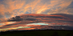 Fire Storm Sunset (AndyorDij) Tags: panorama sunset dusk empingham england rutland uk unitedkingdom 2016 skyscape clouds