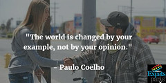 The world is changed by your example, not by your opinion. - Paulo Coelho http://ift.tt/2dl6vcr (expatsparis1) Tags: expats paris expatriates france europe immigration immigrants