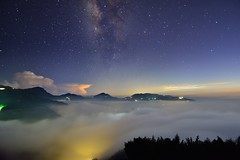 (Vincent_Ting) Tags:   teafield  sunset  seaofclouds  fog misty tea    taiwan   clouds tree sky   vincentting   startrails