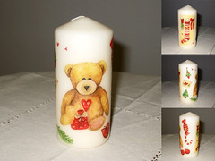 "Candle ""Christmas Bear"""