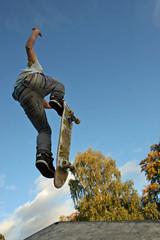 Ollie Over Me 2 (Jeb19) Tags: park portrait face blood child skateboarding ollie skatepark skate trick stunt kickflip treflip