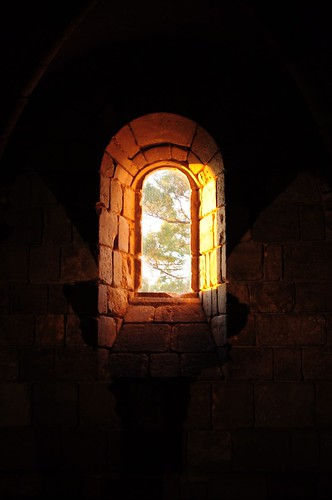 The Cloisters Window at Sunset