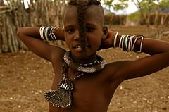 Himba girl 2 - Namibia (Frank Janssens) Tags: africa girl african culture tribal falls safari afrika tribe ethnic namibia tribo himba afrique ethnology epupa tribu opuwo namibie tribus ethnie frankfocuscom