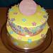 Yellow Spring Flowers Cake