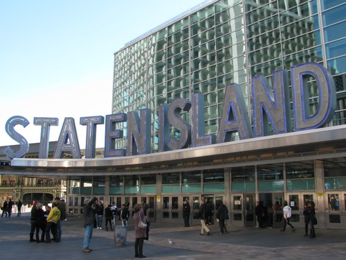 Entrance to the Staten Island Ferry