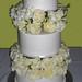 White Roses on White Cake
