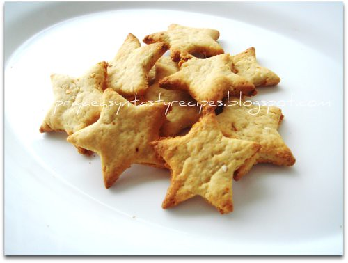 Spicy potato crackers