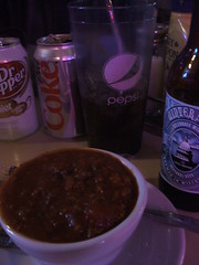 Chili and drinks