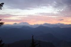 Sunset over Mt. Raineer, Snoqualmie Pass