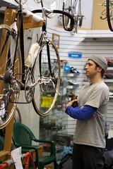 2nd Annual Holiday Party: Admiring (Hugger Industries) Tags: holidayparty bikehugger texturadesign elliottbaybicycles davidsonhandbuiltframes