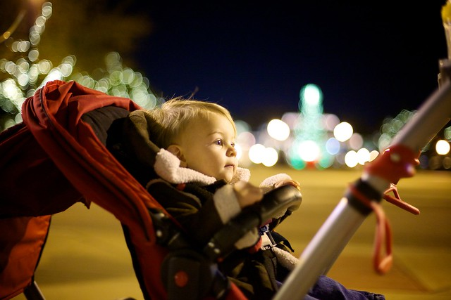 Strolling through Southlake to see the lights