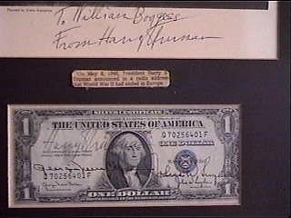 Harry Truman signed dollar