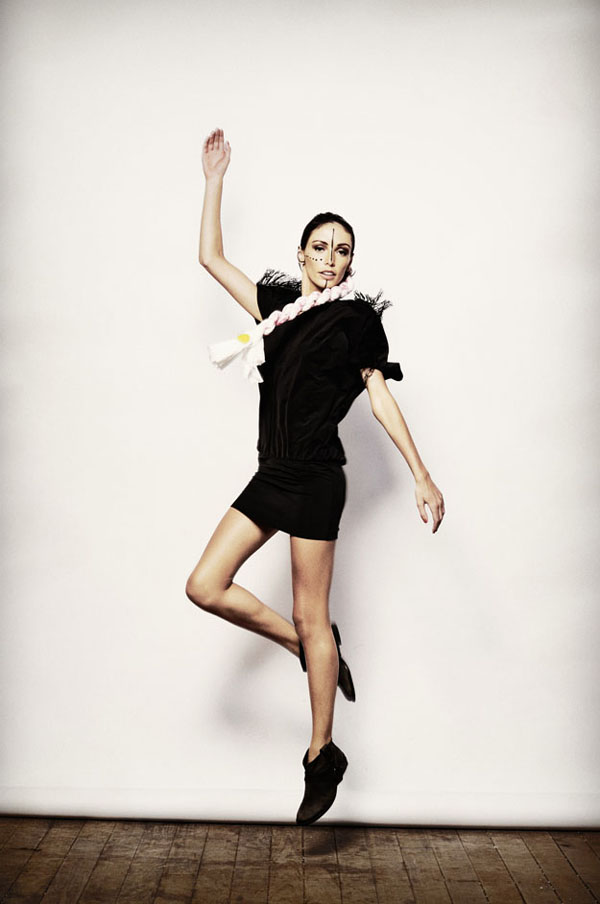 Shine By Three, Fashion Editorial, Jumping Shot, Shoulder Fringing