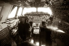Concorde cockpit (AlisonJG) Tags: monochrome transport cockpit concorde airliner airfr