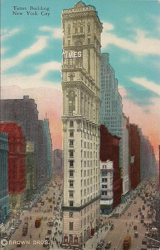 (Undated) Times Building Postcard (Front)