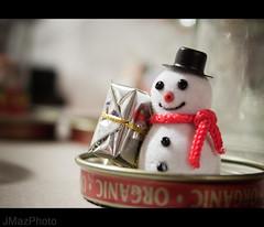 Snow Globing - 339/365 (JMaz Photo) Tags: christmas snowman glue craft gifts jar lid snowglobe project365