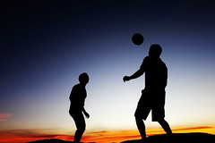 I always have time to play with you [Explored #26] (Gerardography) Tags: sunset playing silhouette contrast canon soccer futbol t1i