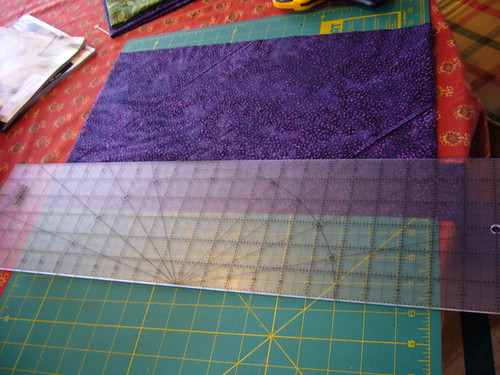Slip the tube over a cutting mat