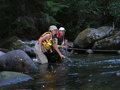 Volunteers Reading Depth Measurement (Hope Mountain Centre for Outdoor Learning) Tags: cabin skagitriver seec streammonitoring skagitenvironmentalendowmentcommission hopemountaincentre hopemountaincentreforoutdoorlearning hmcol