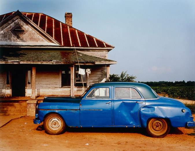 242c_William Christenberry, House and Car