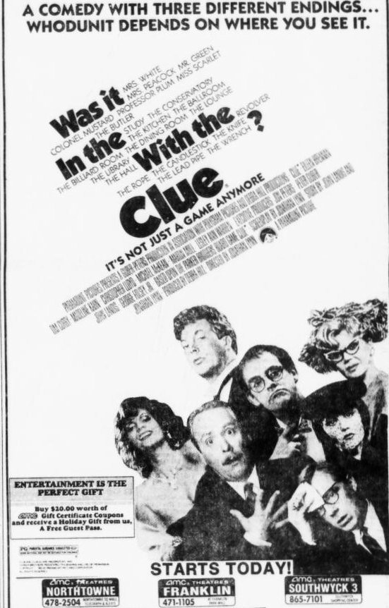 Clue the Movie Starts Today