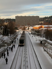 Metro and concrete (Andreasfe) Tags: winter snow oslo norway metro canonefs1755mmf28isusm
