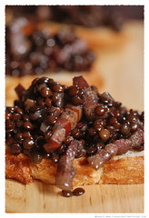 Black Lentil and Speck Crostini© by Haalo