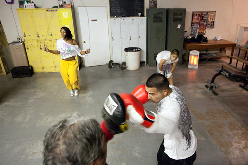 Training at the Grant Park Boxing Club