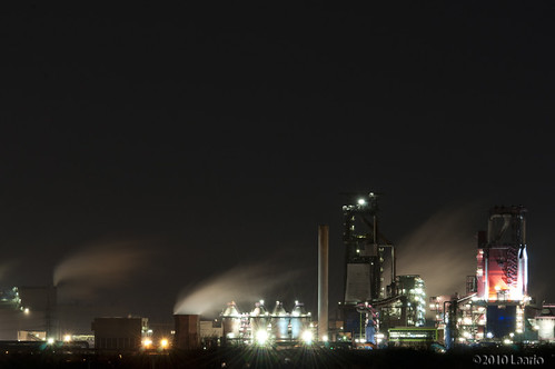 """Landschaftspark Factories by Night • <a style=""""font-size:0.8em;"""" href=""""http://www.flickr.com/photos/53054107@N06/5269378993/"""" target=""""_blank"""">View on Flickr</a>"""