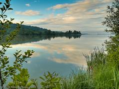 Sky reflections (fotigrafu) Tags: morning river landscape europa europe riviere eu romania paysage ro olympuspen landschaft hdr highd