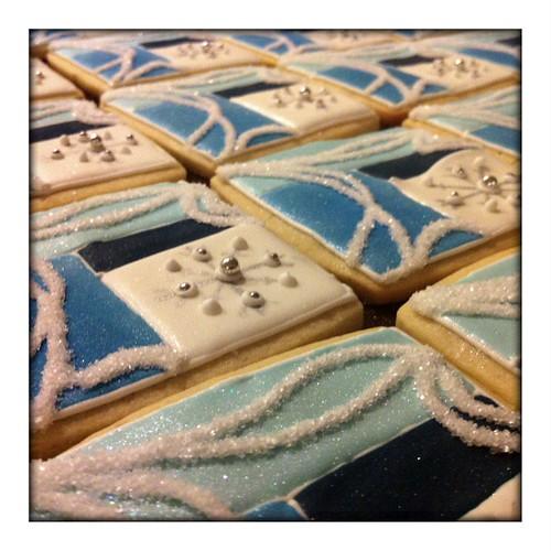 Xmas Quilt Cookies