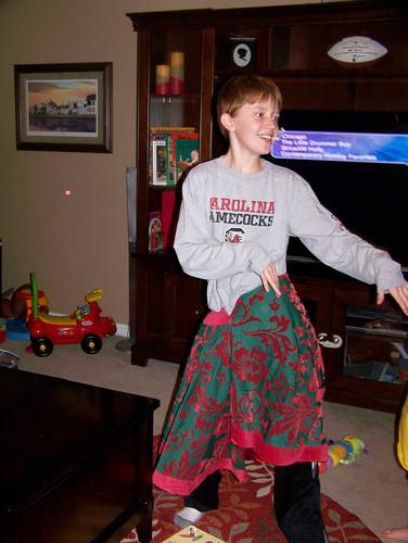 101203 Spencer in Tree Skirt 03