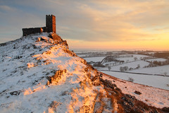 Winter light (@Gking_photo) Tags: winter light sunset england sky snow ice church clouds canon landscape photography evening rocks december devon tor dartmoor 2010 westcountry brentor canon1740mmf4l canon50d brentorchurch