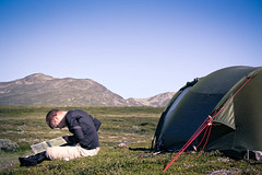 Where do you want to go today? (Pellemolle) Tags: nature ecology trekking landscape reading scenery sweden map thing object maps objects things tent hills read land environment activity scandinavia environmentalism activities ecosystem taiga concentrating fjllvandring lunndrren