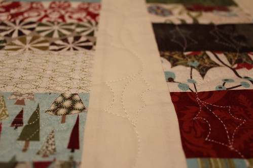 Close up of Christmas Table Runner 2