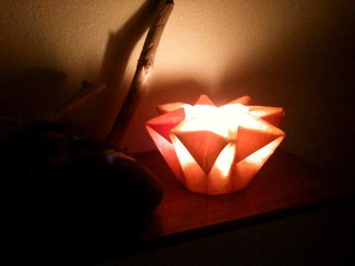 watercolor paper folded star lantern