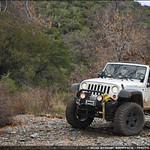 Mitch's Jeep on the trail up to Crown King thumbnail