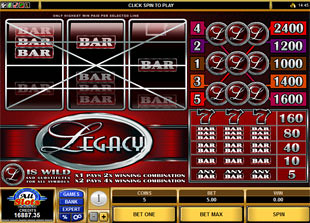 Legacy slot game online review