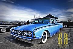 Blue on blue (J@ke Morrison (Rebel Rouser Images)) Tags: blue ford canon20d oldschool 1022mm fairlane 1960 rebelrouserimages mooneyesxmas2010 worldmachineshdr