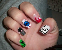 Halloween Nails 2 (Bretagne_Revenge) Tags: halloween spider blood nails eyeball nailart