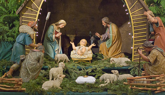 Saint Francis de Sales Oratory, in Saint Louis, Missouri, USA - Christmas manger