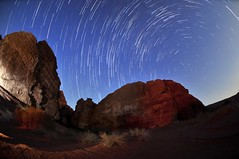 Saudi Arabia  Startrail over Tabuk Mountains (Talal Al-Duolye) Tags: moon star trail saudi arabia talal ksa tabuk startrail