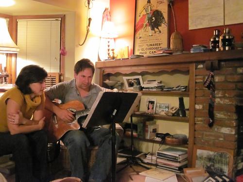 singing with Deb's husband, Erik