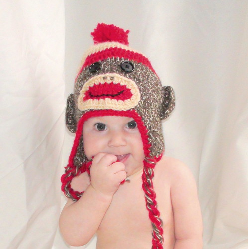 Sock Monkey Hat Knitting Pattern : sock monkey hat knitting pattern image search results