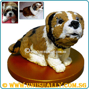Customized 3D Dog Figurine