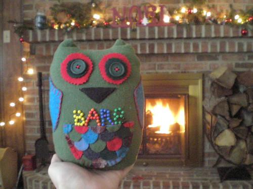 Pin cushion owl