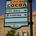 "City Of Cocoa<br /><span style=""font-size:0.8em;"">Sign in Cocoa, Florida.</span>"