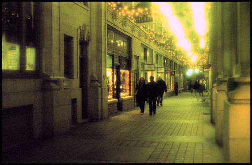 Nickels arcade evening.