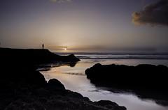 watching (Light Knight) Tags: longexposure sunset sea beach water flow nikon muriwai d700 robinducker