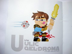 U is for ULIC QEL-DROMA (THEREALGINGERPRINCE) Tags: star emma brandon away peat galaxy lightsaber wars alphabet far thermal ackbar detonator ulic qeldroma